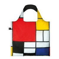 Τσάντα αγορών Loqi Piet Mondrian Composition Red Yellow Blue And Black, 1921 Bag