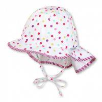 Καπέλο καλοκαιρινό βαμβακερό πουά με μπαντάνα Sterntaler Flapper Hat