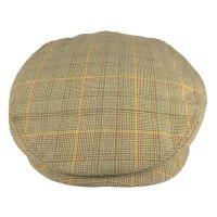 Καπέλο τραγιάσκα καλοκαιρινό μπεζ καρό Kangol Check Hudson Cap