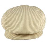 Καπέλο τραγιάσκα ανδρικό καλοκαιρινό μπεζ ριγέ Kangol Stripes Hudson Cap