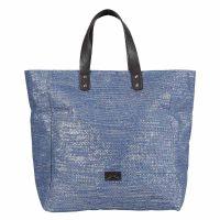 Τσάντα ώμου θάλασσας υφασμάτινη γυναικεία μπλε Glamorous Blue