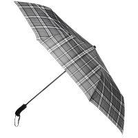 Ομπρέλα ανδρική σπαστή με γυριστή ξύλινη λαβή, μαύρη, αυτόματη Ferré