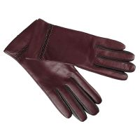 Γάντια γυναικεία μάλλινα μαύρα  με δαντέλα και φιογκάκι
