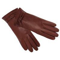 Γάντια δερμάτινα γυναικεία δίχρωμα Guy Laroche  Two - Tone Leather Gloves