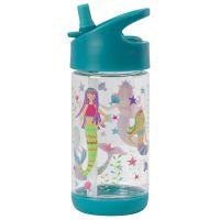 Παγουρίνο παιδικό με καλαμάκι γοργόνα  Stephen Joseph Flip Top Bottles Mermaid