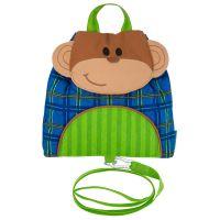 Σακίδιο πλάτης παιδικό με ιμάντα μαϊμουδάκι  Stephen Joseph Buddy Bag Monkey With Safety Harness