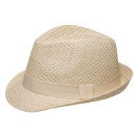 Καπέλο καβουράκι παιδικό μπεζ  ψάθινο Kids Straw Trilby Hat Beige