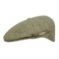 Καπέλο τραγιάσκα χειμερινό καφέ Kangol Herringbone 504 Cap