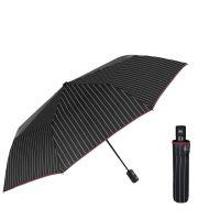 Automatic Folding Umbrella Perletti Technology Stripes Black