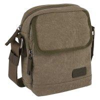 Τσάντα ώμου καμβάς χακί Camel Active Molina S Crossbody Bag Khaki.