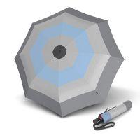 Ομπρέλα σπαστή αντηλιακή με αυτόματο άνοιγμα - κλείσιμο Knirps T.200 Folding Umbrella Duomatic UV Protection Popy Light Blue.