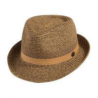 Καπέλο καβουράκι ψάθινο μπεζ Sraw Trilby Hat Beige.