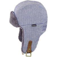 Καπέλο υφασμάτινο με γούνα και αυτιά χειμερινό γκρι καρό Sterntaler  Trapper Hat