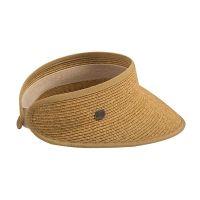 Καπέλο γείσο γυναικείο ψάθινο μπεζ  Women's Sraw Visor Beige.