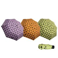 Ομπρέλα γυναικεία μίνι,σπαστή καρώ Guy Laroche Mini Folding Checked Umbrella