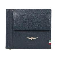 Πορτοφόλι δερμάτινο ανδρικό χαρτονομισμάτων μπλε Aeronautica Militare Flag Wallet Blue.