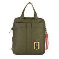 Τσάντα ανδρική ώμου - χεριού και σακίδιο πλάτης χακί Aeronautica Militare Crossbody Bag - Backpack AM - 344 Khaki.