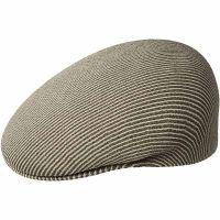 Καπέλο τραγιάσκα μπεζ ριγέ καλοκαιρινό Kangol Stripe 504 Beige / Smog