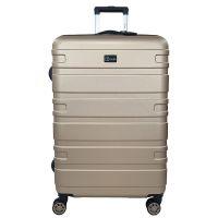 Βαλίτσα σκληρή μεγάλη επεκτάσιμη σαμπανί με 4 ρόδες Rain 4W Expandable RB80104 Luggage 75 cm Champagne.