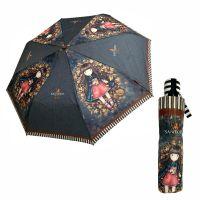 Ομπρέλα σπαστή αυτόματη Santoro Gorjuss Autumn Leaves Automatic Folding Umbrella.
