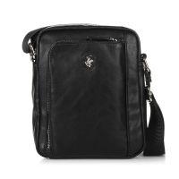 Τσαντάκι ώμου ανδρικό μαύρο Beverly Hills Polo Club Project Shoulder Bag Black.
