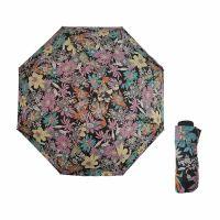 Mini Folding Manual Umbrella Pierre Cardin Floral Black