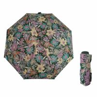 Mini Folding Manual Umbrella Pierre Cardin Floral Green