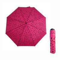 Ομπρέλα σπαστή γυναικεία φούξια Pierre Cardin Folding Umbrella IIlusion Marks Fuchsia.