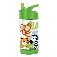 Παγουρίνο παιδικό με καλαμάκι ζωολογικός κήπος Stephen Joseph Flip Top Bottles Zoo.