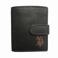 Πορτοφόλι δερμάτινο ανδρικό μαύρο U.S. POLO ASSN. Queasy S Horiz. Wallet Black.