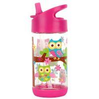 Παγουρίνο παιδικό με καλαμάκι κουκουβάγια Stephen Joseph Flip Top Bottles Owl