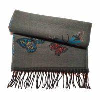 Winter Scarf Pierre Quioc  Butterfly Grey