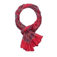 Scarf - Pareo Floral Peony Coral Red