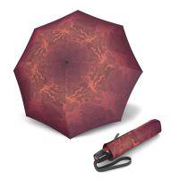 Ομπρέλα σπαστή γυναικεία αυτόματο άνοιγμα - κλείσιμο κόκκινη Knirps T.200 Duomatic Ecorepel Miracle Fire.