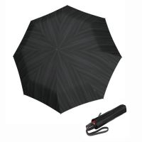 Automatic Open - Close Folding Umbrella Knirps T.200 Duomatic Power Black Ecorepel