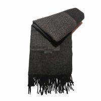 Winter Stole Georges Rech Fishbone Grey - Black