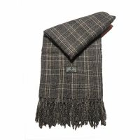 Winter Stole Small Checkered Georges Rech Grey - Beige