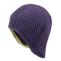 Σκουφάκι θάλασσας μοβ γκοφρέ Ladies Swimming Cap Purple