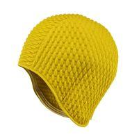 Σκουφάκι θάλασσας κίτρινο γκοφρέ Ladies Swimming Cap Yellow