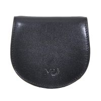 Leather Coin Pouch Wallet Marta Ponti Tagus Black