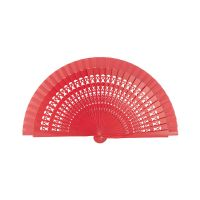 Wooden Small Perforated Fan Joseblay Red