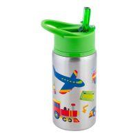 Παγουρίνο παιδικό ανοξείδωτο με τα μέσα μεταφοράς  Stephen Joseph Flip Top Stainless Steel  Water Bottle Transportation