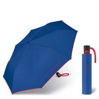 Ομπρέλα σπαστή αυτόματη μπλε με ρέλι United Colors Of Benetton Mini AC Folding Umbrella Blue