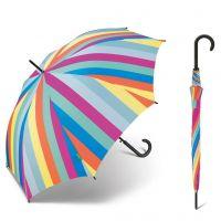 Women's Long Automatic Umbrella United Colors Of Benetton Multi Stripes