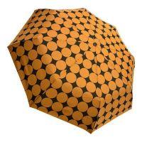 Mini Manual Folding Umbrella Guy Laroche Big Dots Orange