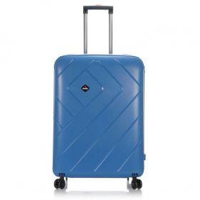 Βαλίτσα σκληρή σιέλ 4 ρόδες  μεγάλη Dielle PPL 870 75 cm