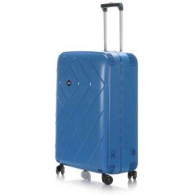 Βαλίτσα σκληρή σιέλ 4 ρόδες  μεγάλη Dielle PPL 870 75 cm, δεξιά όψη