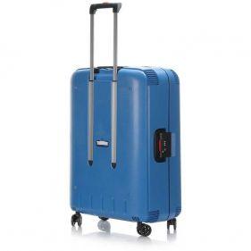 Βαλίτσα σκληρή σιέλ 4 ρόδες  μεγάλη Dielle PPL 870 75 cm, πίσω όψη