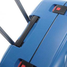 Βαλίτσα σκληρή σιέλ 4 ρόδες  μεγάλη Dielle PPL 870 75 cm, πάνω όψη