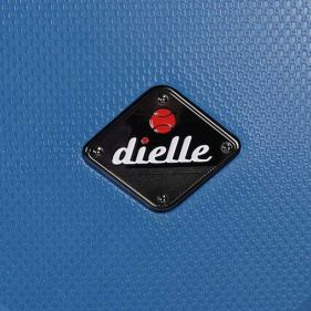 Βαλίτσα σκληρή σιέλ 4 ρόδες  μεγάλη Dielle PPL 870 75 cm, λεπτομέρεια μπροστινής όψης